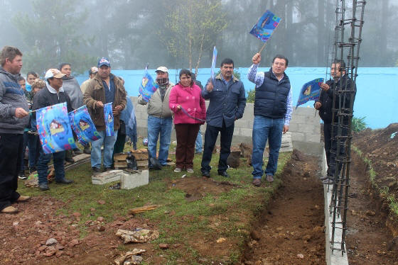 Gobierno de acaxochitl n inicia construcci n de comedor for Proyecto de construccion de comedor escolar